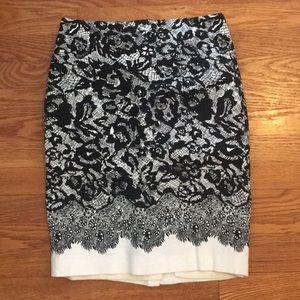 Ann Taylor Lace Design Skirt